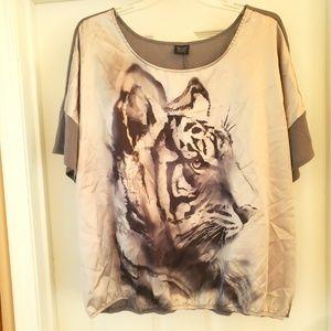 Tiger Print Blouse